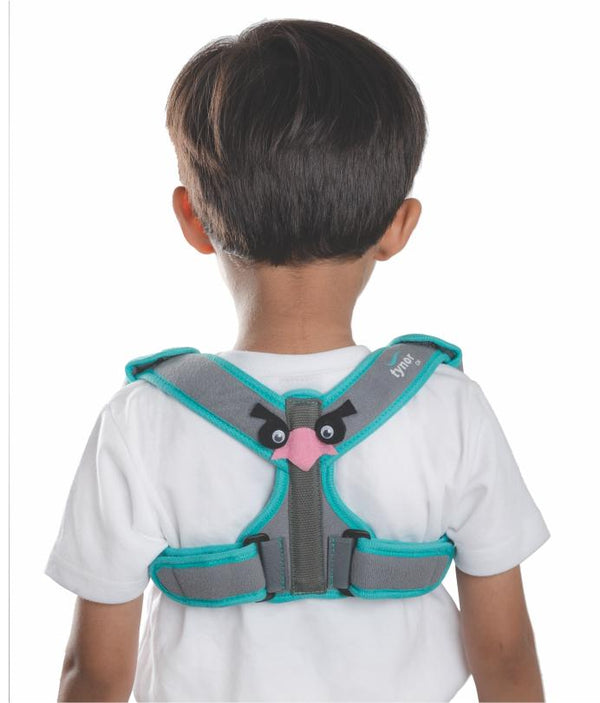 Tynor Australia Clavicle Support with Velcro Children paediatric shoulder brace  Back Posture Corrector Effective and Comfortable Posture Brace for Slouching & Hunching