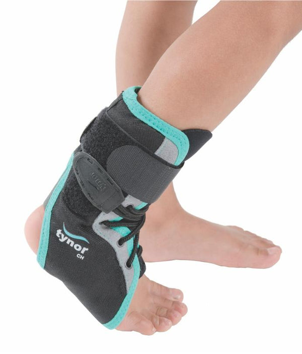 Pediatric Lace-Up Protective Ankle Brace Support for Active Kids in Sports