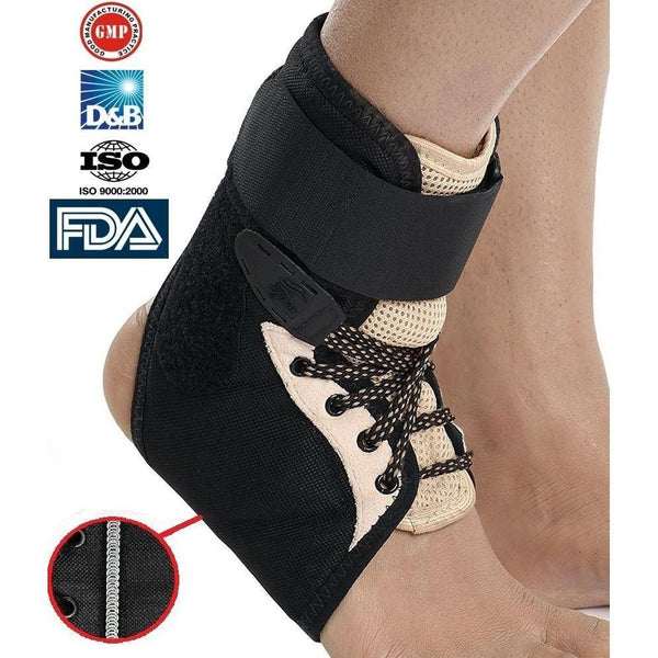 Tynor Australia Ankle Brace, Lace Up Adjustable Support – for Running, Basketball, Injury Recovery, Sprain! Ankle Wrap Volleyball, Basketball