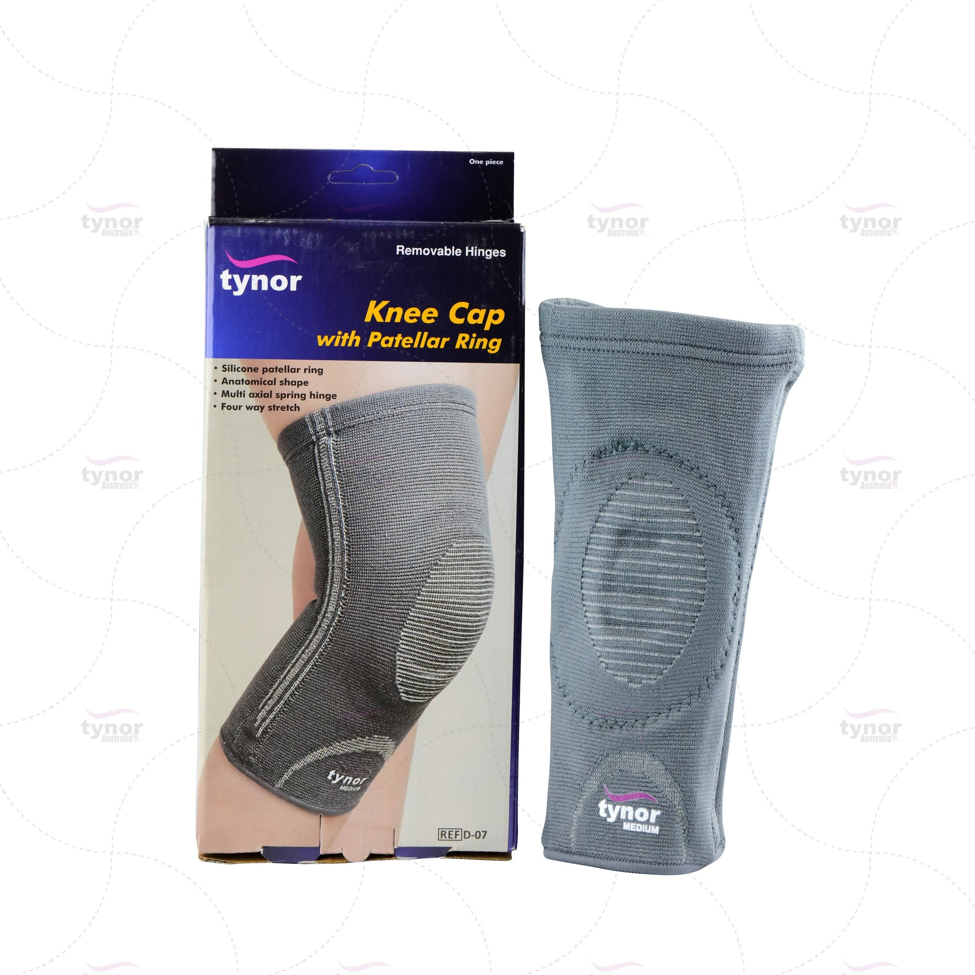 Tynor® Open Patella Knee Brace-Silicon Patellar Ring  post-surgical care Osteoarthritis, Patellofemoral syndrome effusions of the knee