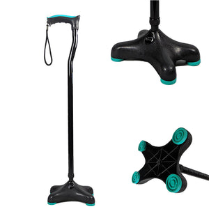 Tynor Australia Walking Stick Quadra (Soft Top Handle / Moulded Base) Walking Aids Physio Supplies Orthopedic aids Physio Supports Australia
