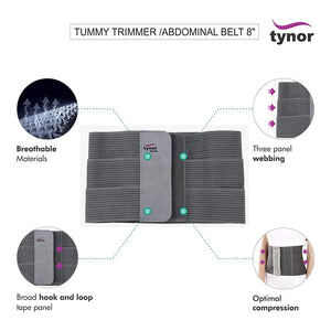 Tummy Trimmer/Ventral Hernia Umbilical Belt 8""