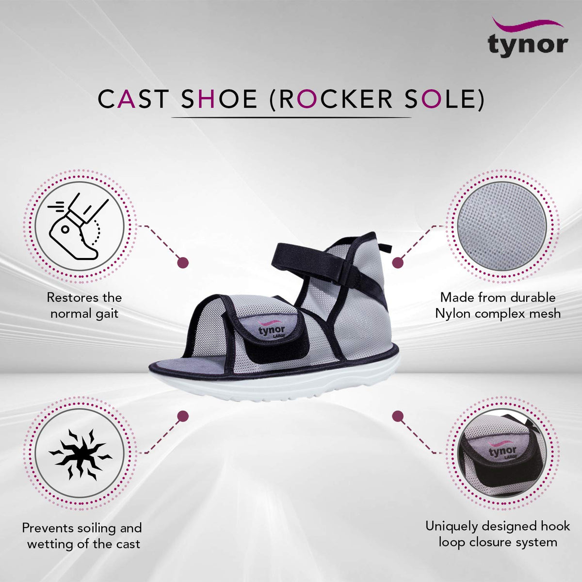 Cast Shoe (Rocker Sole)