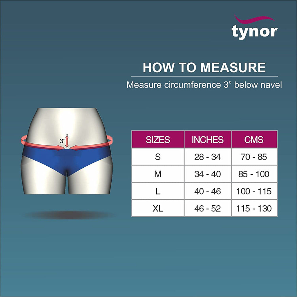 Testicular Support With Underwear For Men size chart