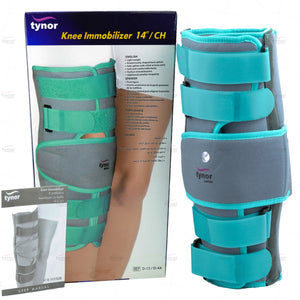 Tynor Australia Unisex Knee Immobiliser Adjustable Tri-Panel Straight Leg Support Brace ractures, muscular/ligament injury, and dislocations Early cast removal Immobilization