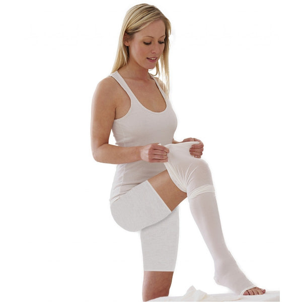 Tynor Australia Physio Supports Australia  Anti Embolism Compression Stockings (D.V.T. Prophylaxis) Class 1 (Pair) Anti-Embolism Knee Highs, Unisex, Moderate Compression, Large, White, Helps Reduce Formation of Blood Clots