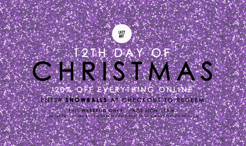 20% off Christmas Shopping Weekend