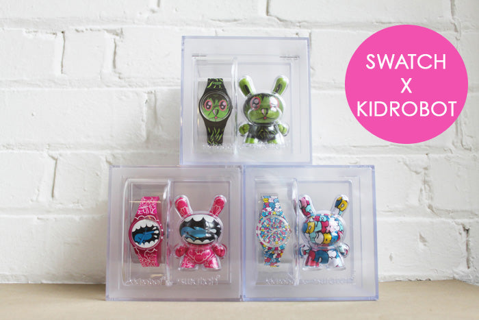 New In: Kid Robot X Swatch