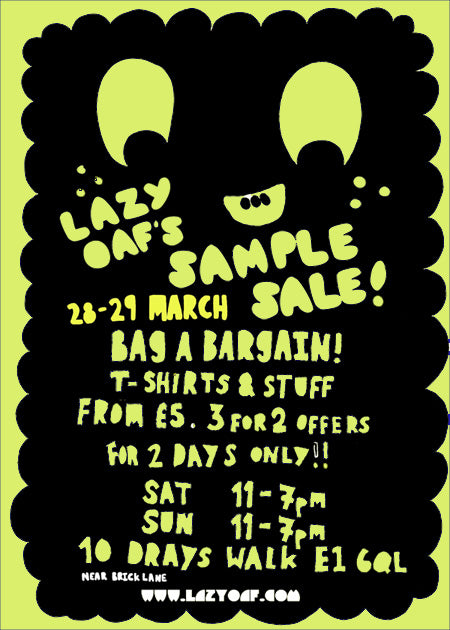 Big Lazy Oaf Sample Sale!