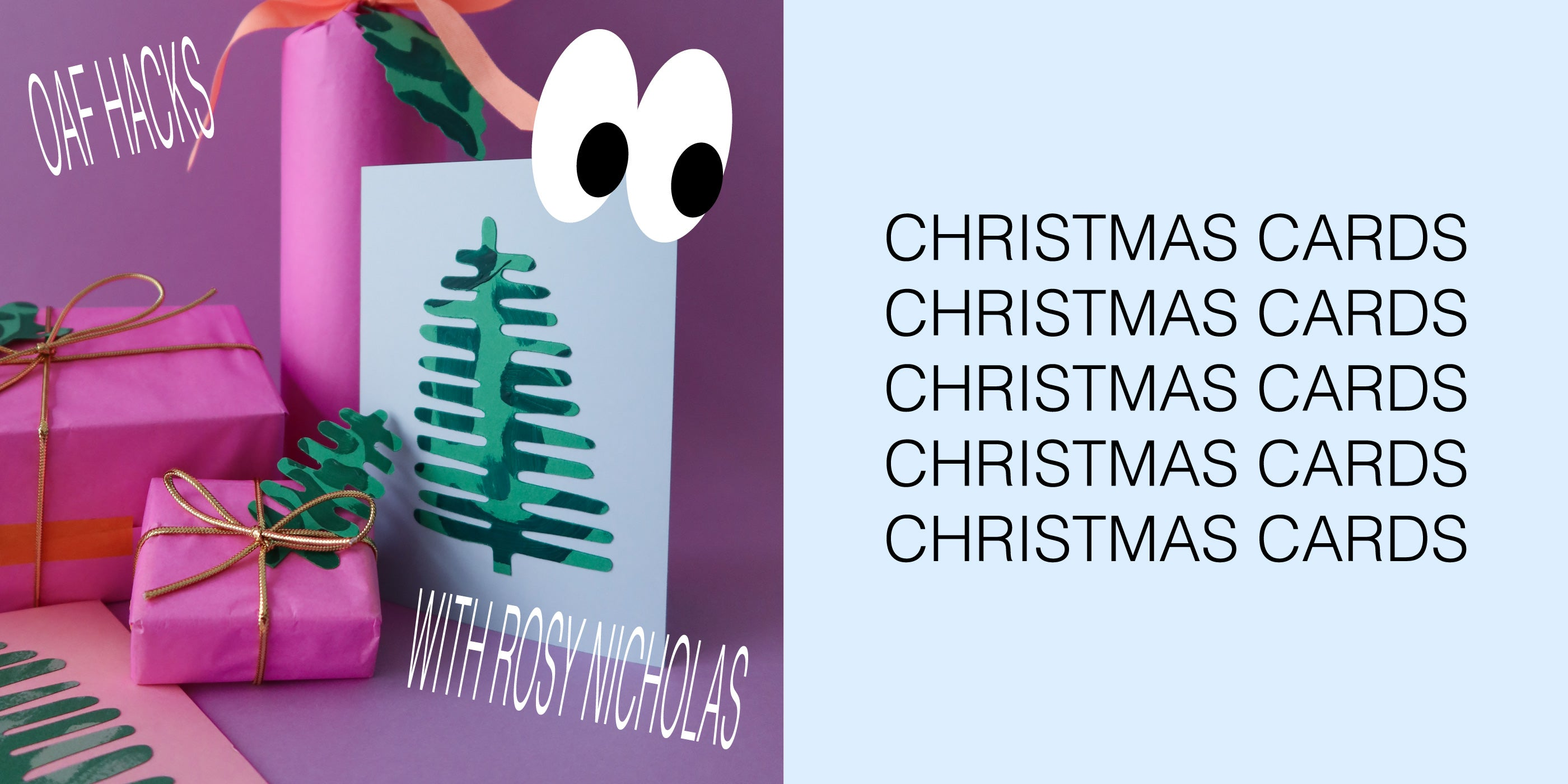 Oaf Hacks: Christmas Cards with Rosy Nicholas
