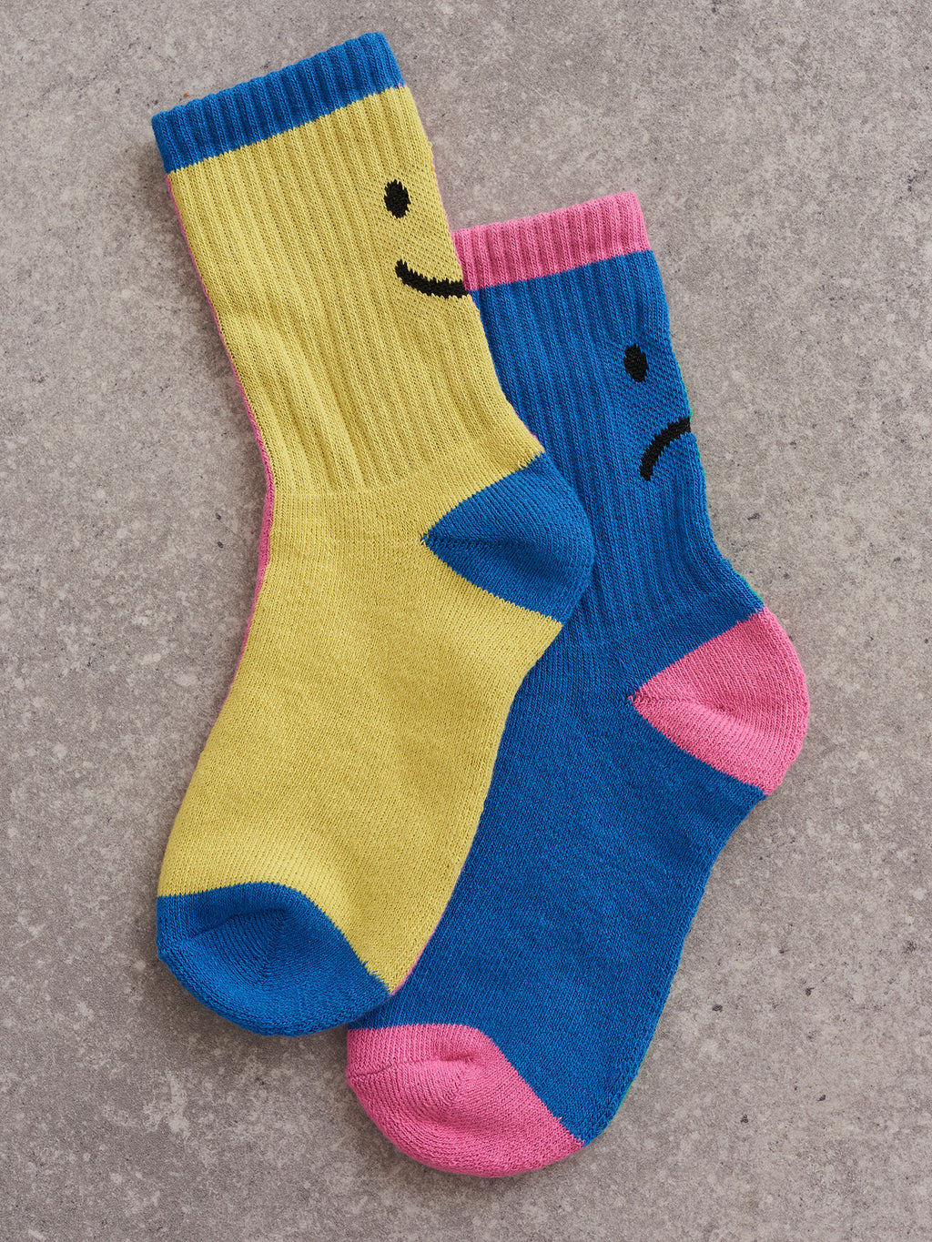 Lazy Oaf Happy Sad Pastel Colour Block Socks