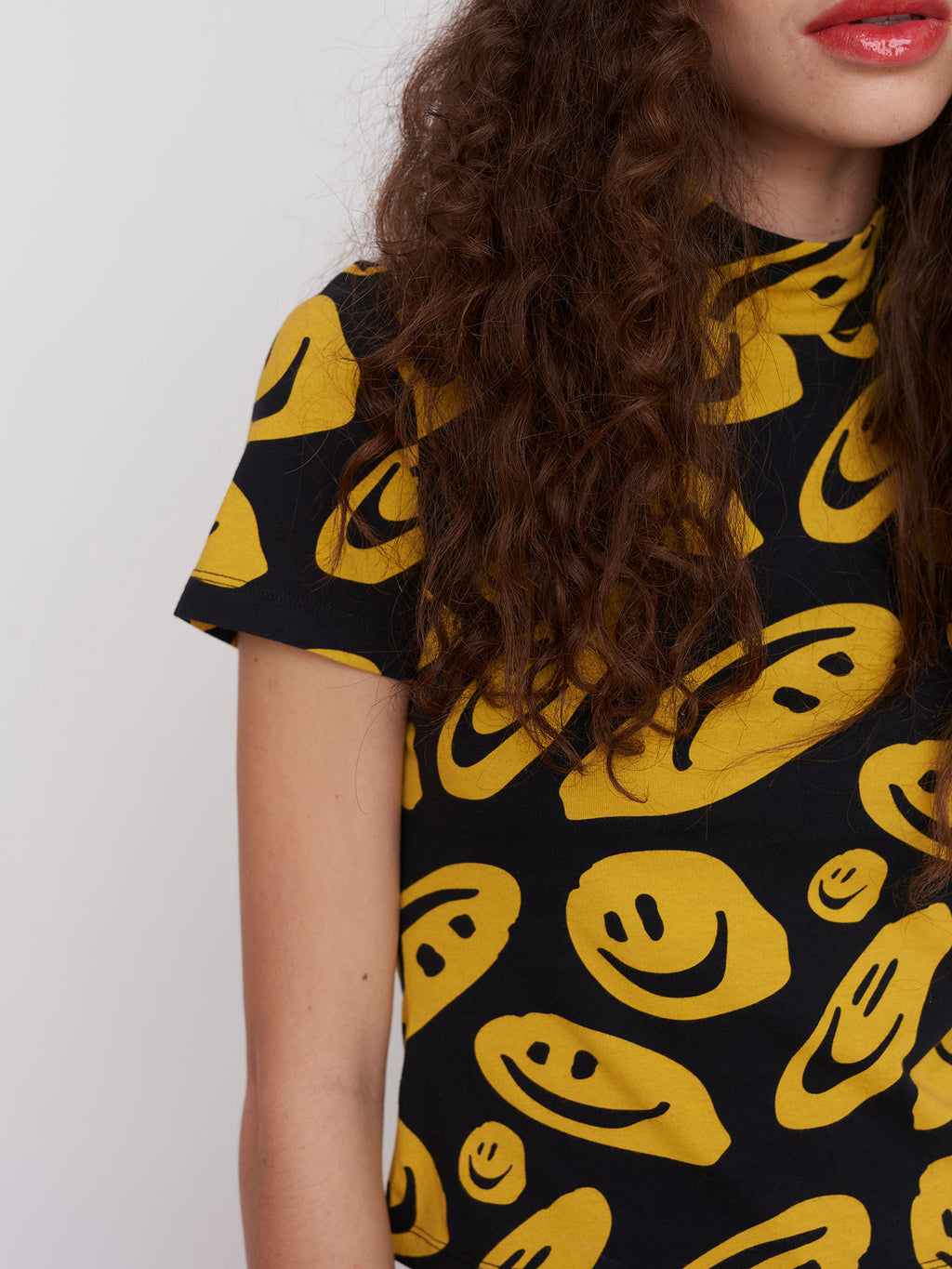 Lazy Oaf Squish Face Short Sleeve Top