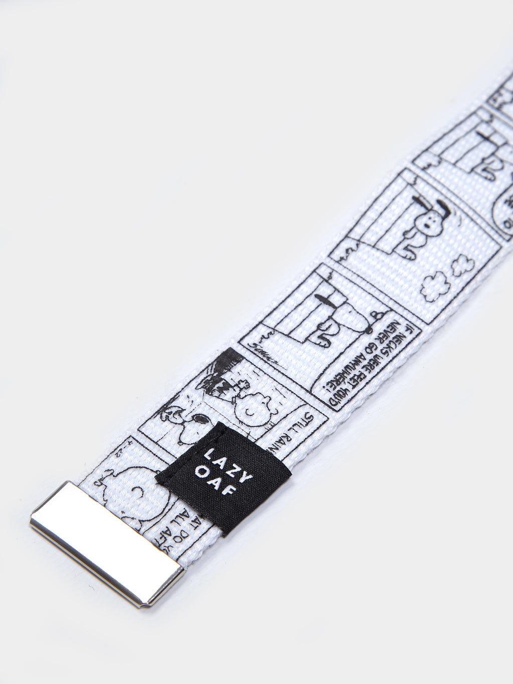 Lazy Oaf x Peanuts Comic Strip Belt - White