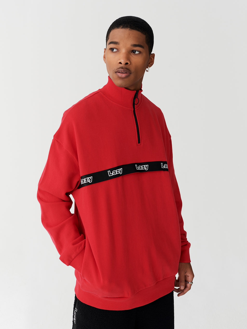 Lazy Oaf Red Lazy Zip Up Sweatshirt