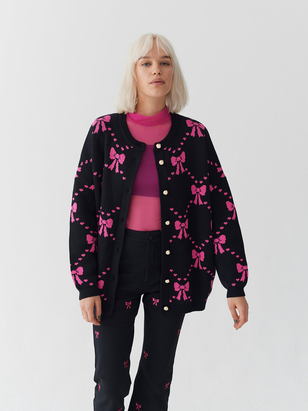 Lazy Oaf Big Bow Cardigan