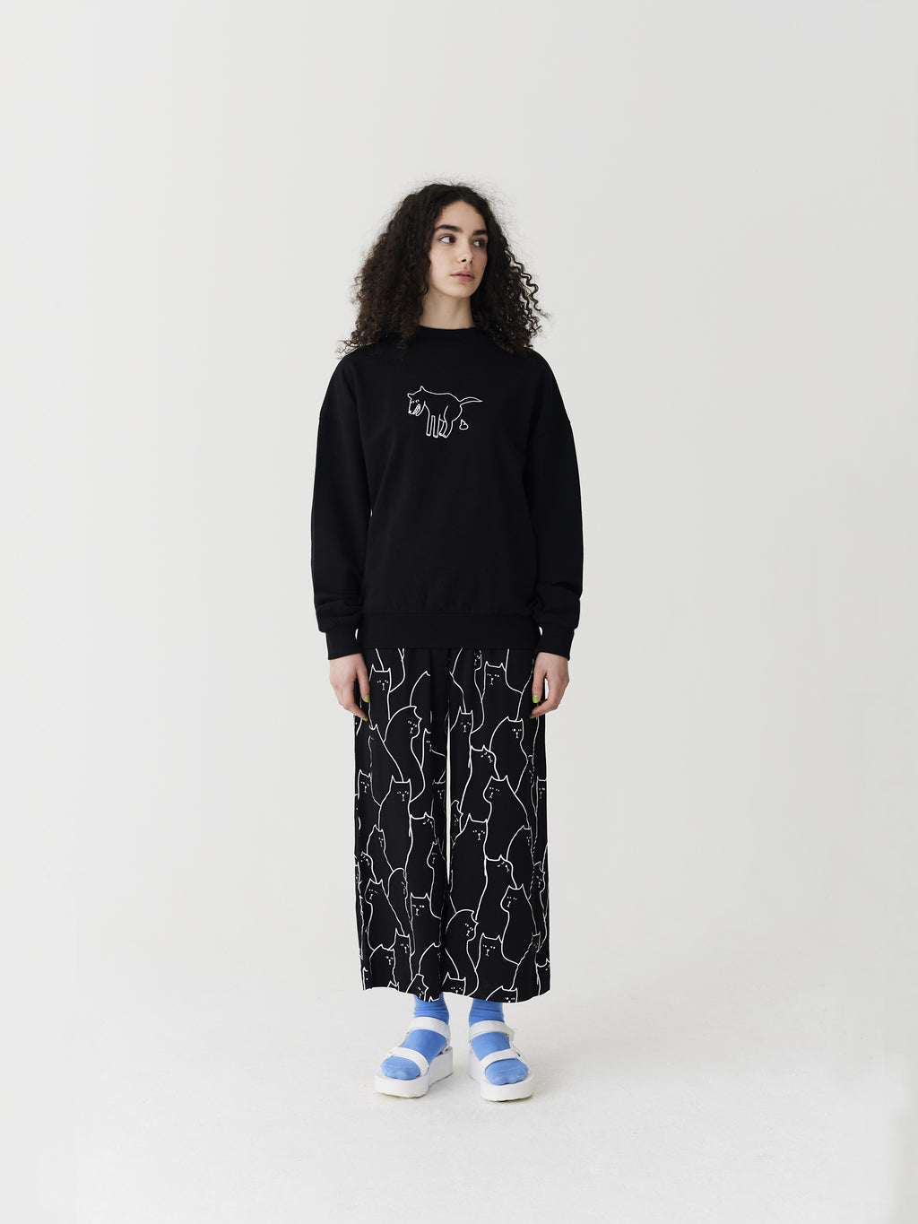 Lazy Oaf Black Doggy Sweatshirt