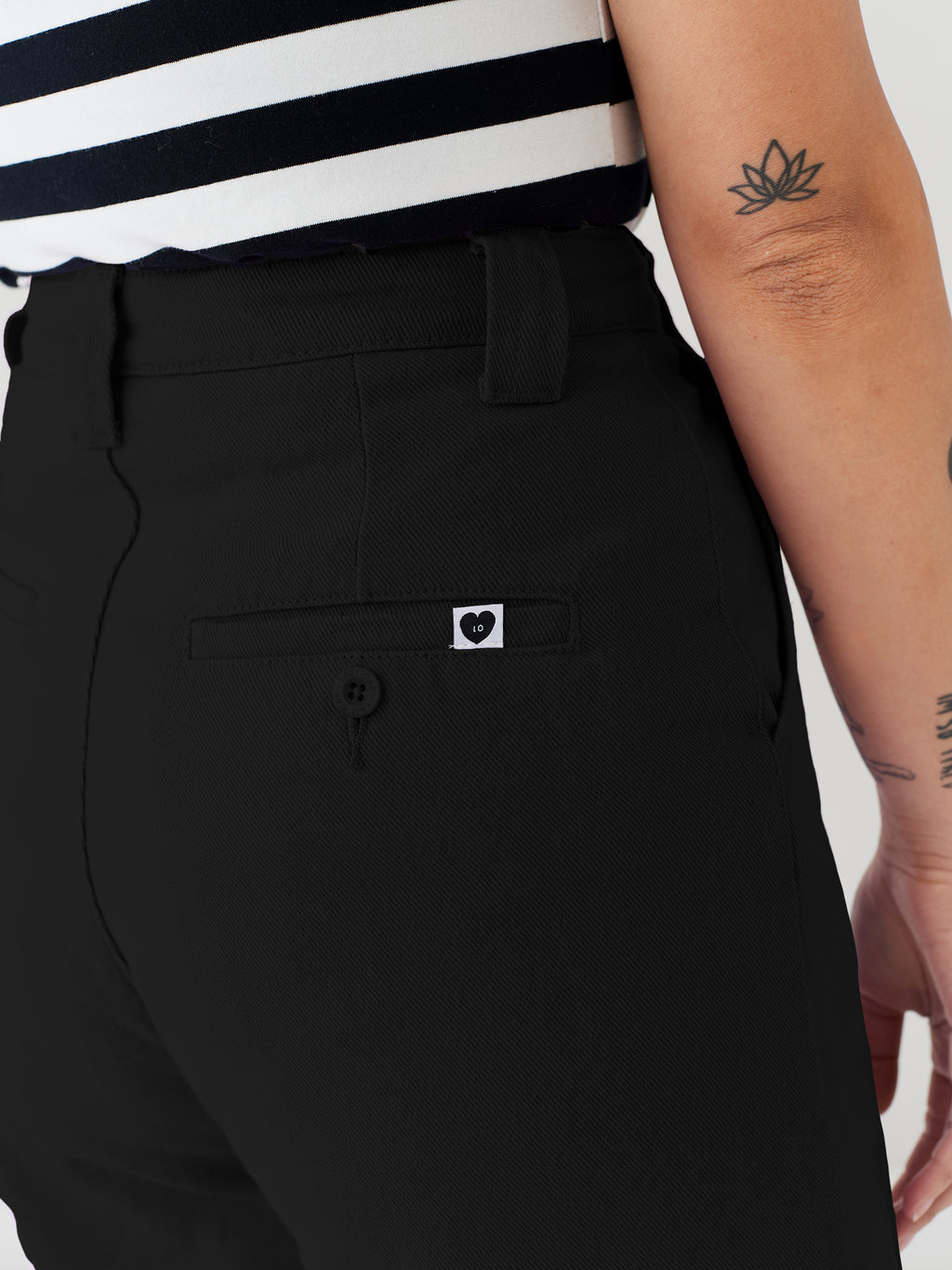 LO Black Work Pants