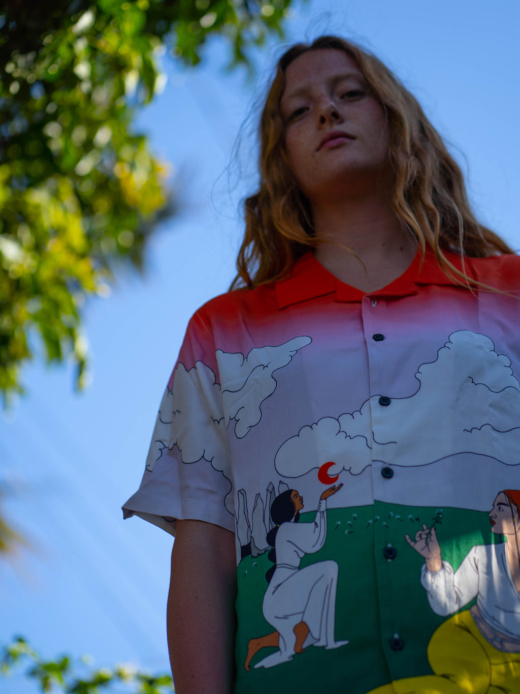 LO x Laura Callaghan Worship The World Bowling Shirt