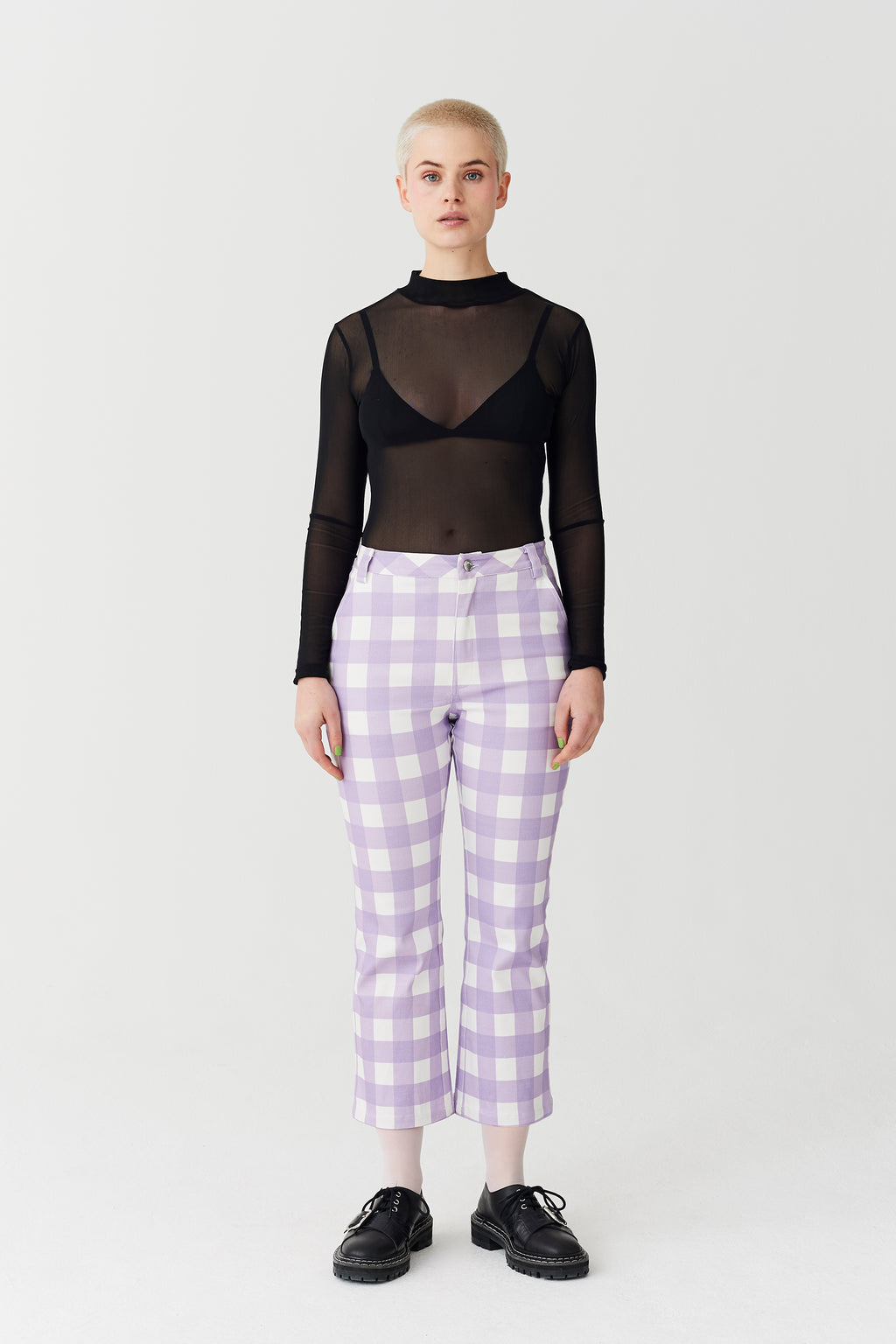 Esther Loves Oaf Bunny Back Kick Flare Trousers