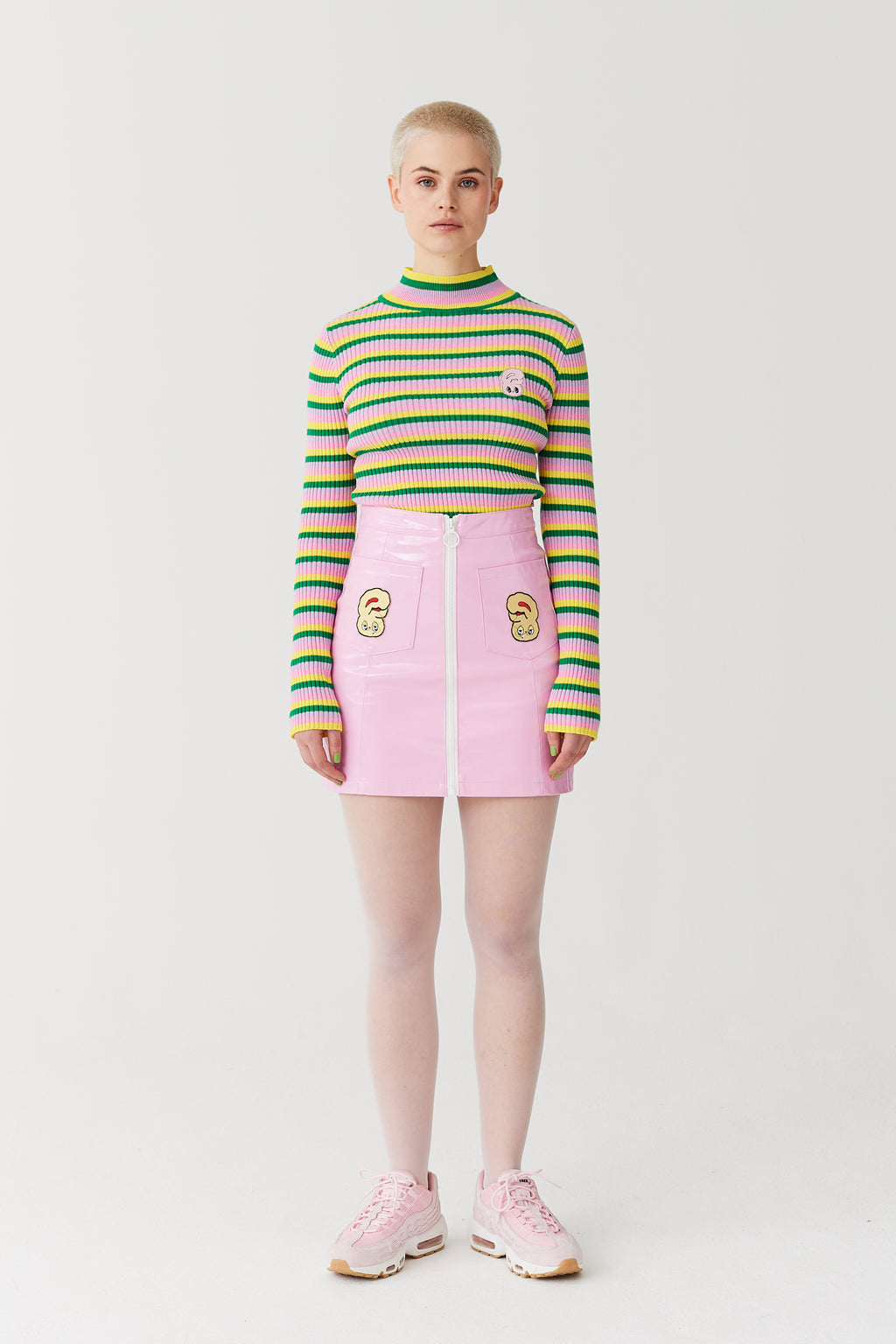 Esther Loves Oaf Bunny Crop Roll Neck Top
