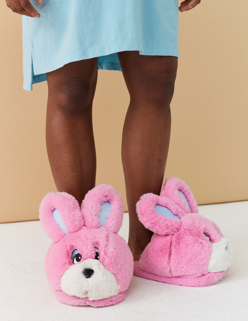 74a393f78d5 Lazy Oaf Bunny Slippers