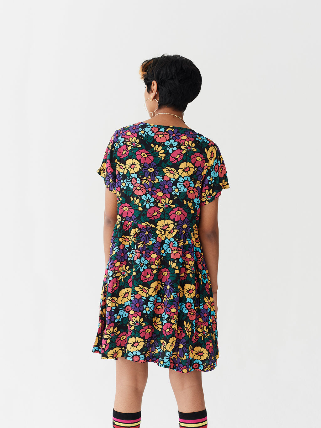 Lazy Oaf Button Through Floral Dress