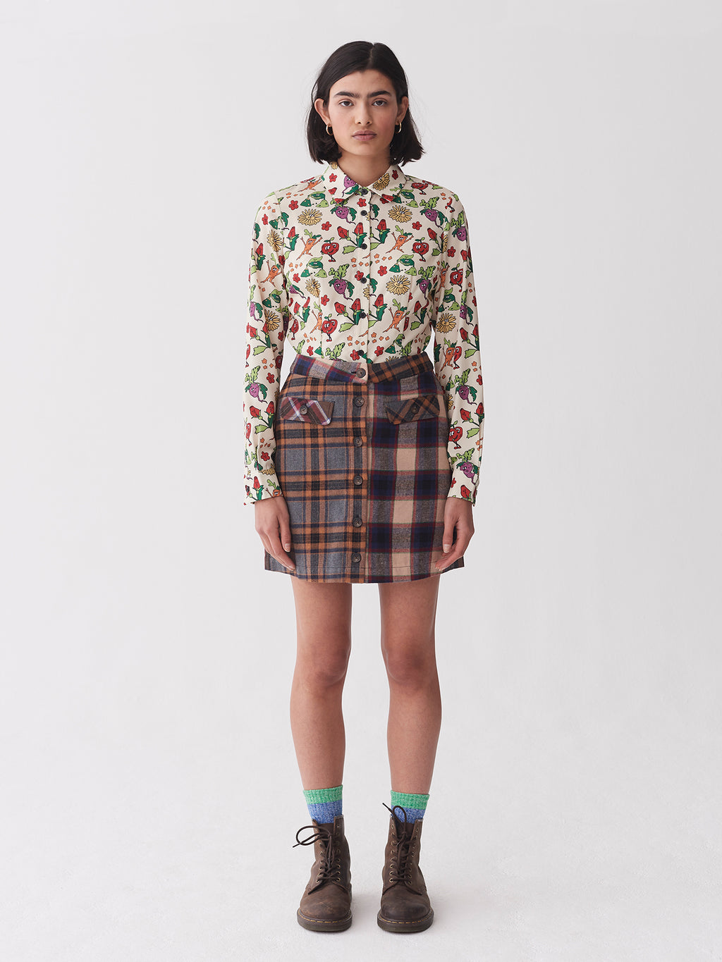 Lazy Oaf Button Up Mini Skirt