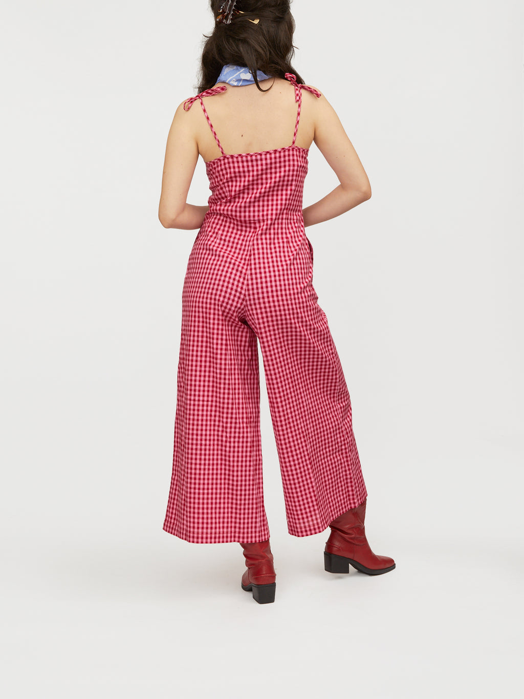 Lazy Oaf Checkin You Out Wide Leg Jumpsuit