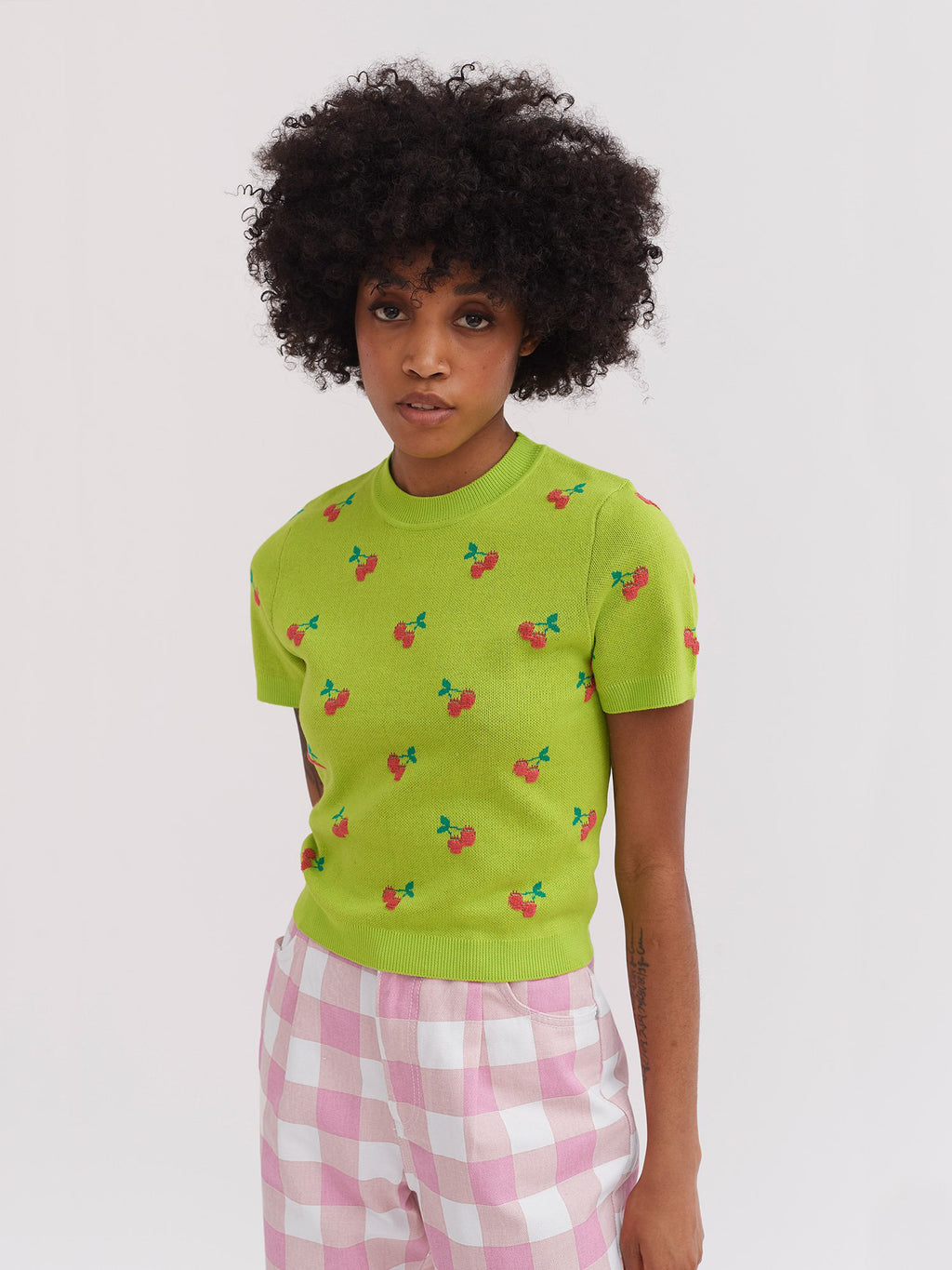 Lazy Oaf Cherry Picked Knitted Tee