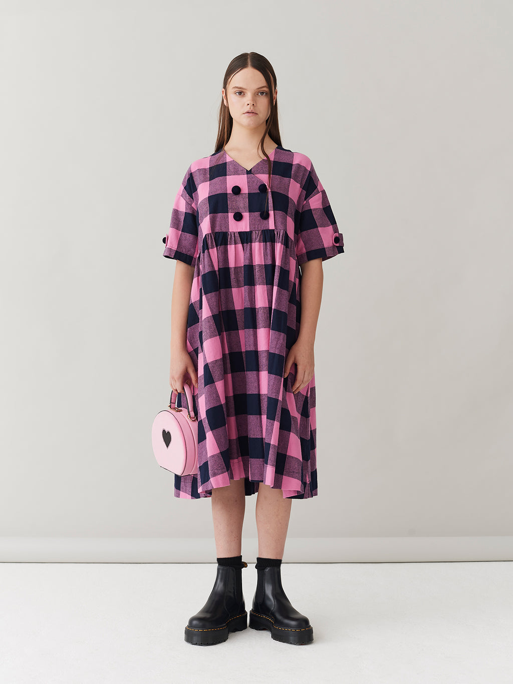 G.E.M. Candy Check Flannel Dress