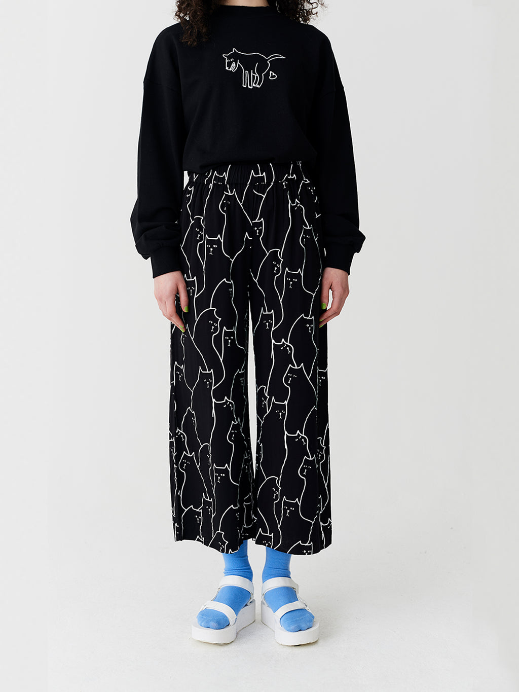 Lazy Oaf Cat Repeat Pants