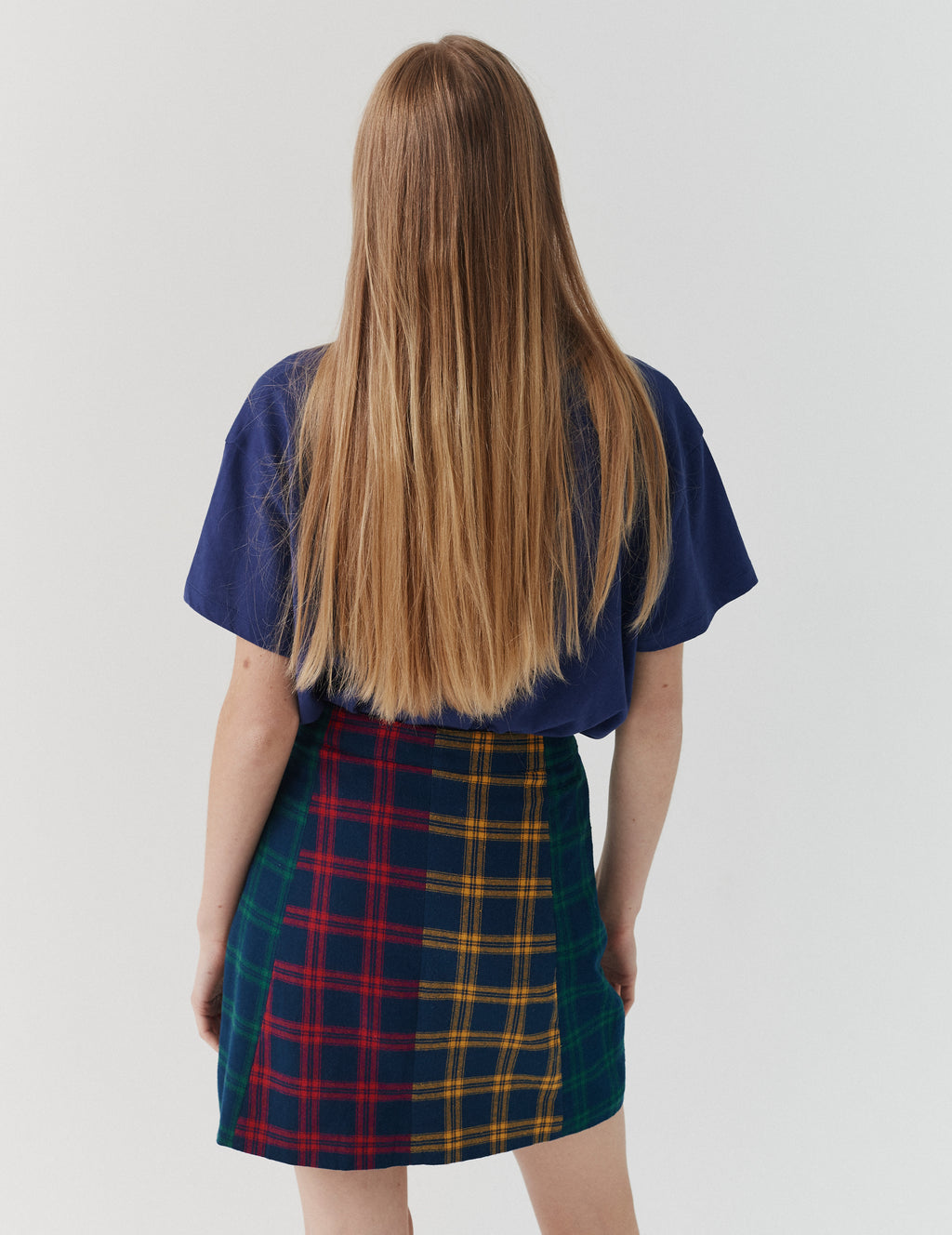 Lazy Oaf Check Panel Skirt