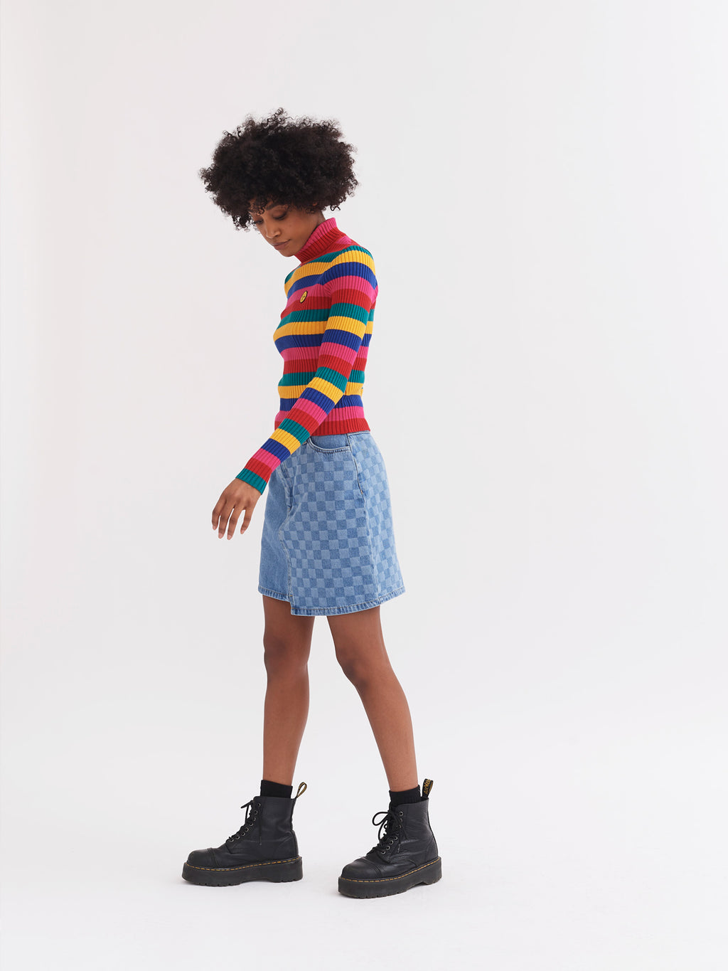 Lazy Oaf Patched Up Mini Skirt