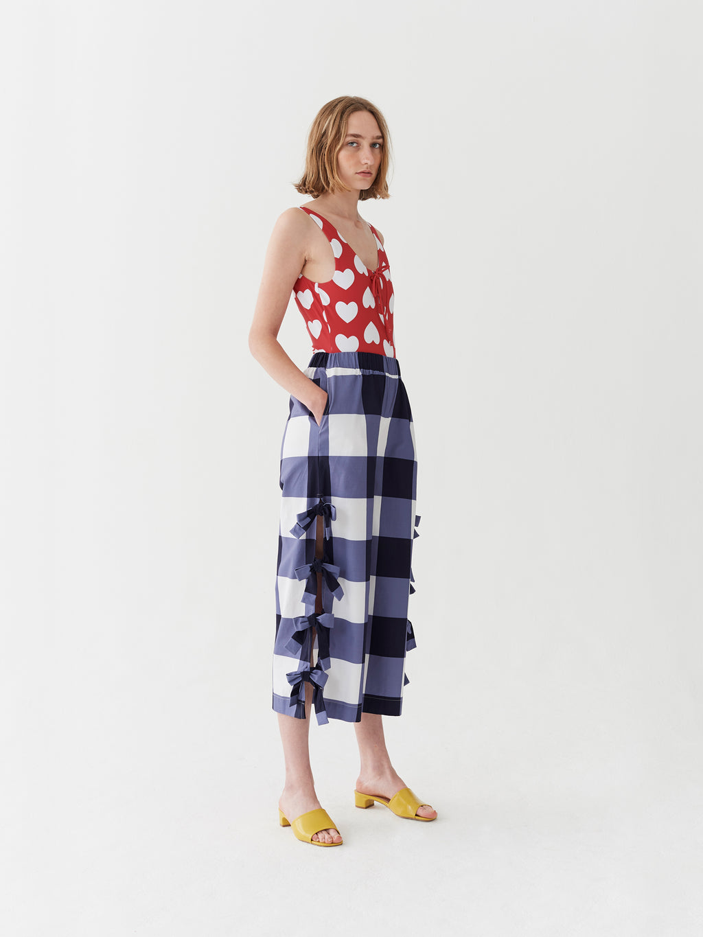 Lazy Oaf Tied Up Gingham Beach Pants