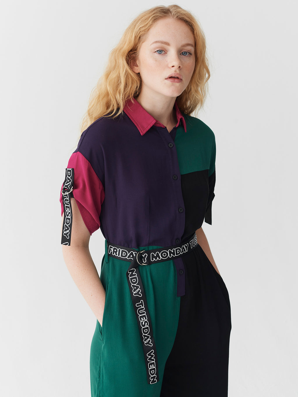 Lazy Oaf Colour Block Jumpsuit