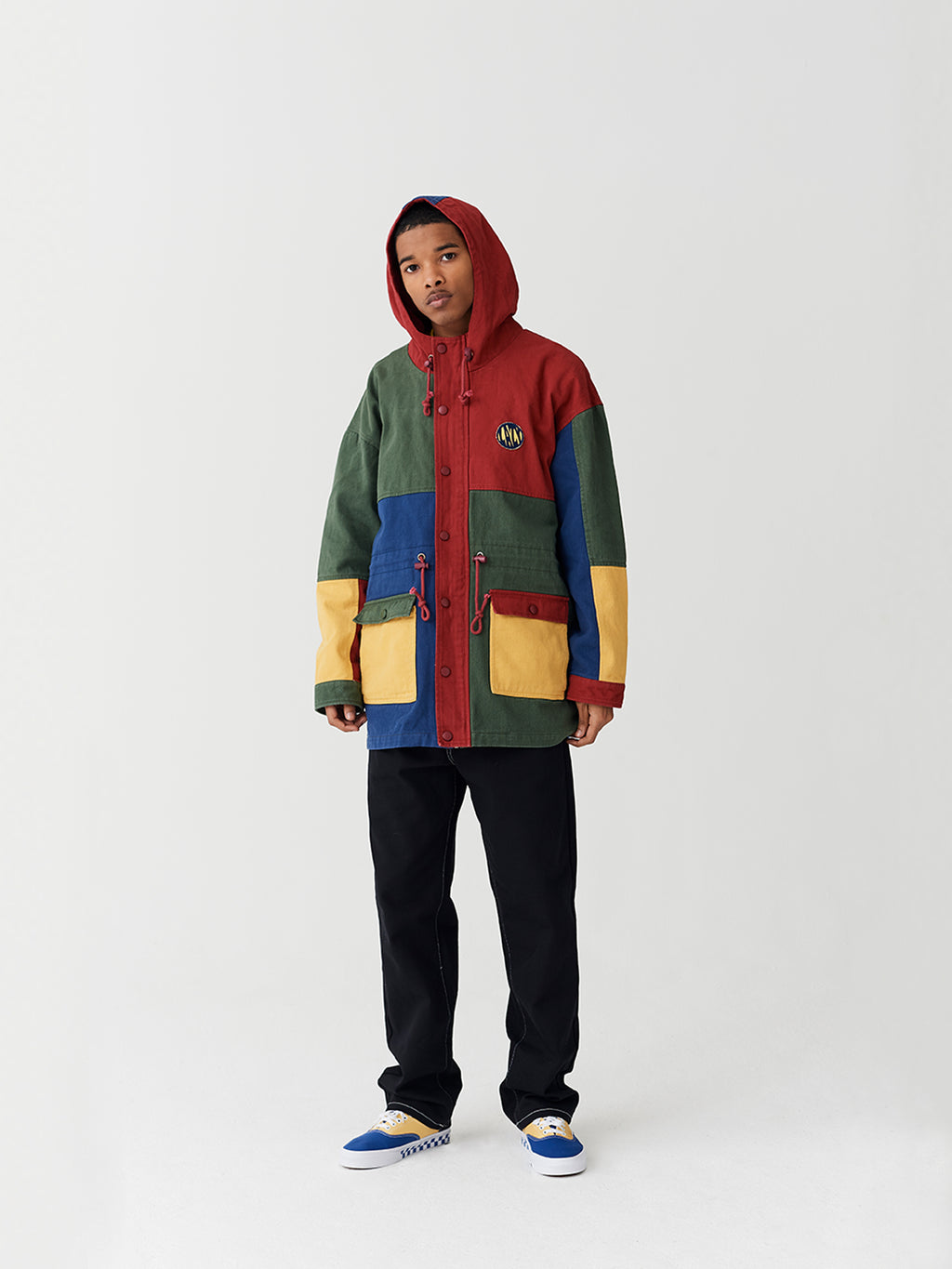 0cdefd65632 Lazy Oaf Colour Panel Twill Jacket