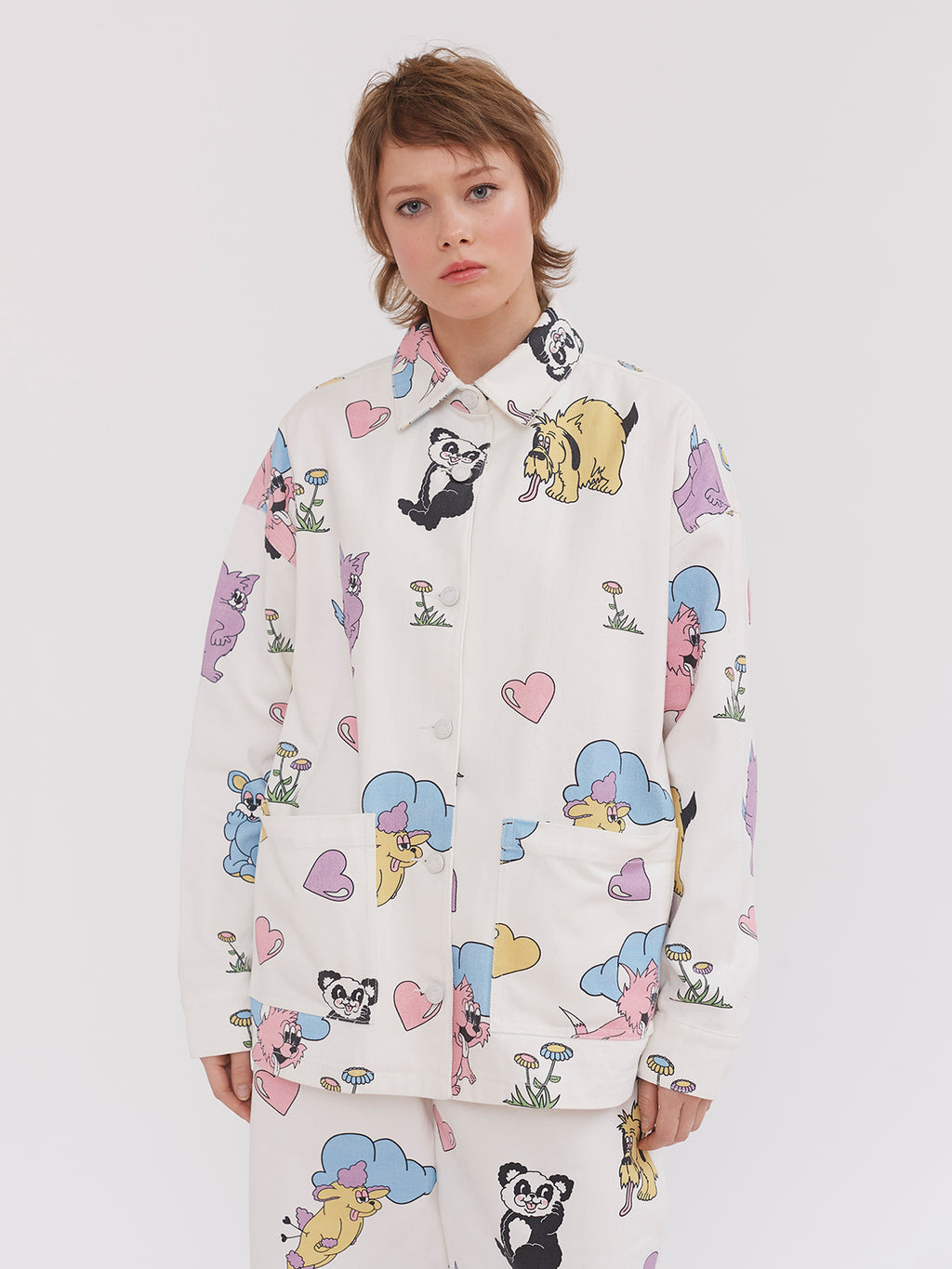 Lazy Oaf Crazy in Love Work Jacket