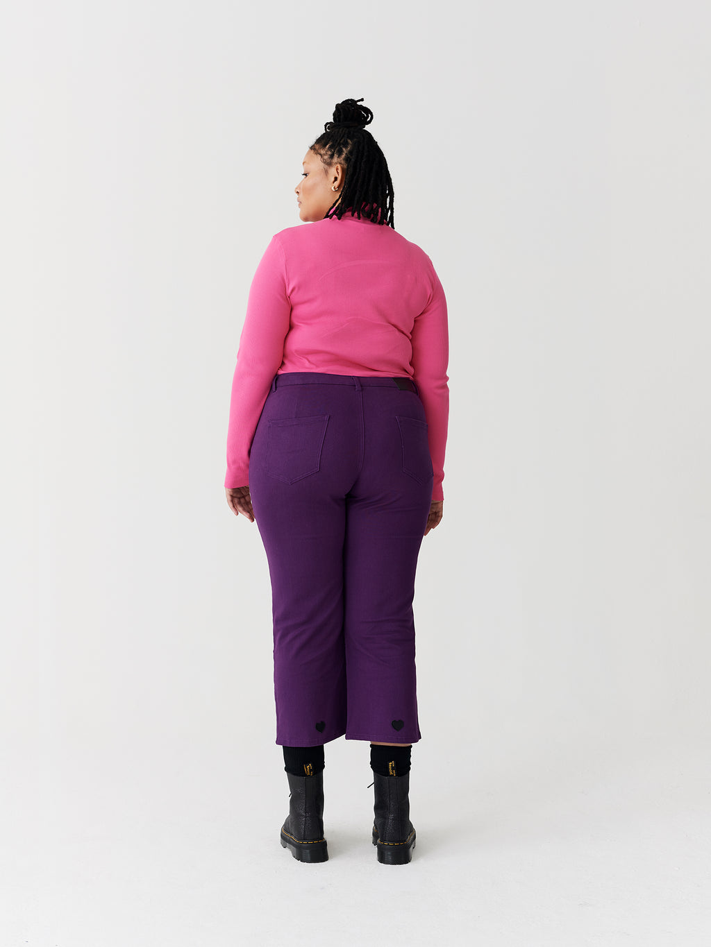 Lazy Oaf Pink Oaf Roll Neck Top