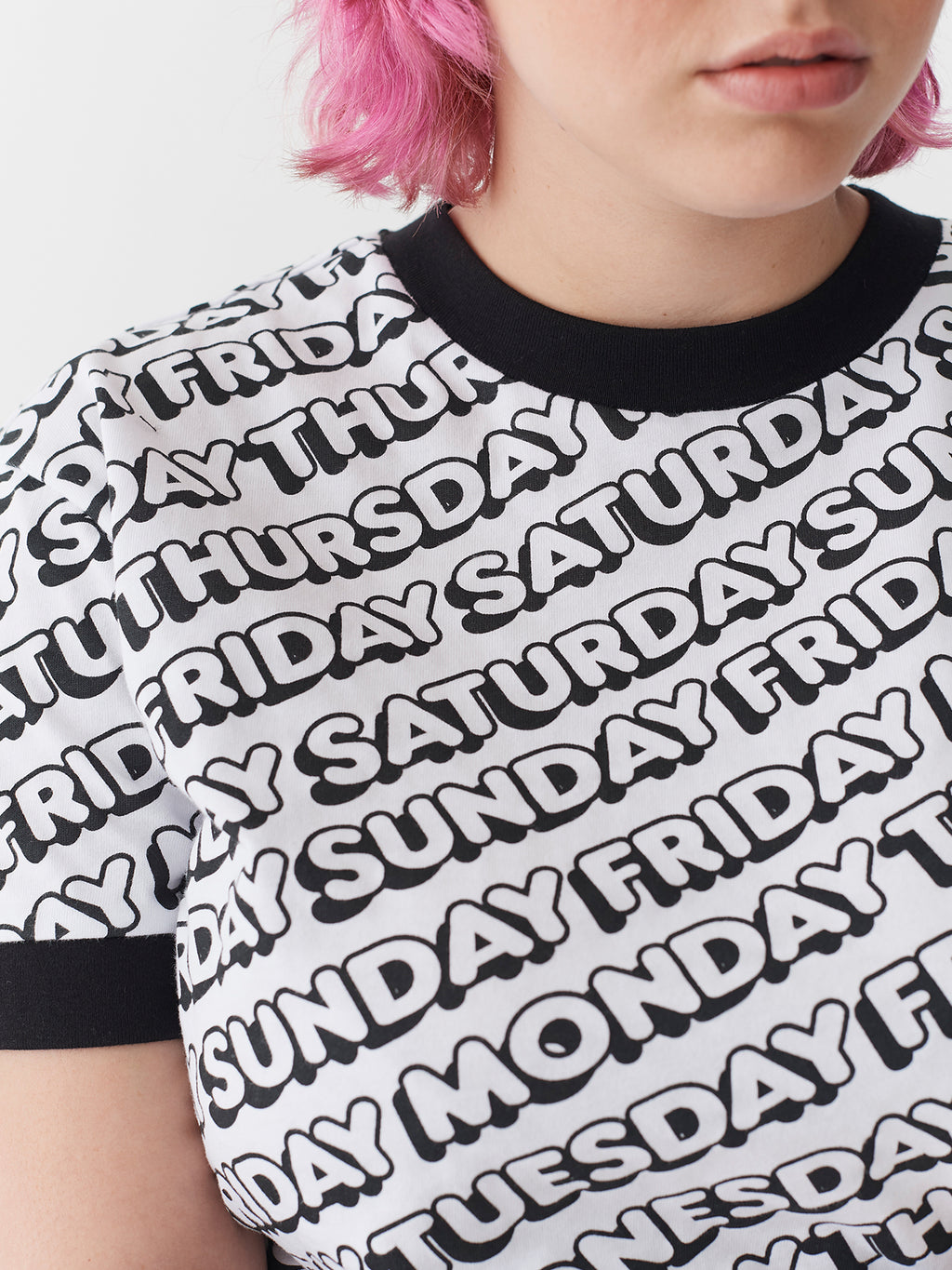 Lazy Oaf Day After Day Ringer T-Shirt
