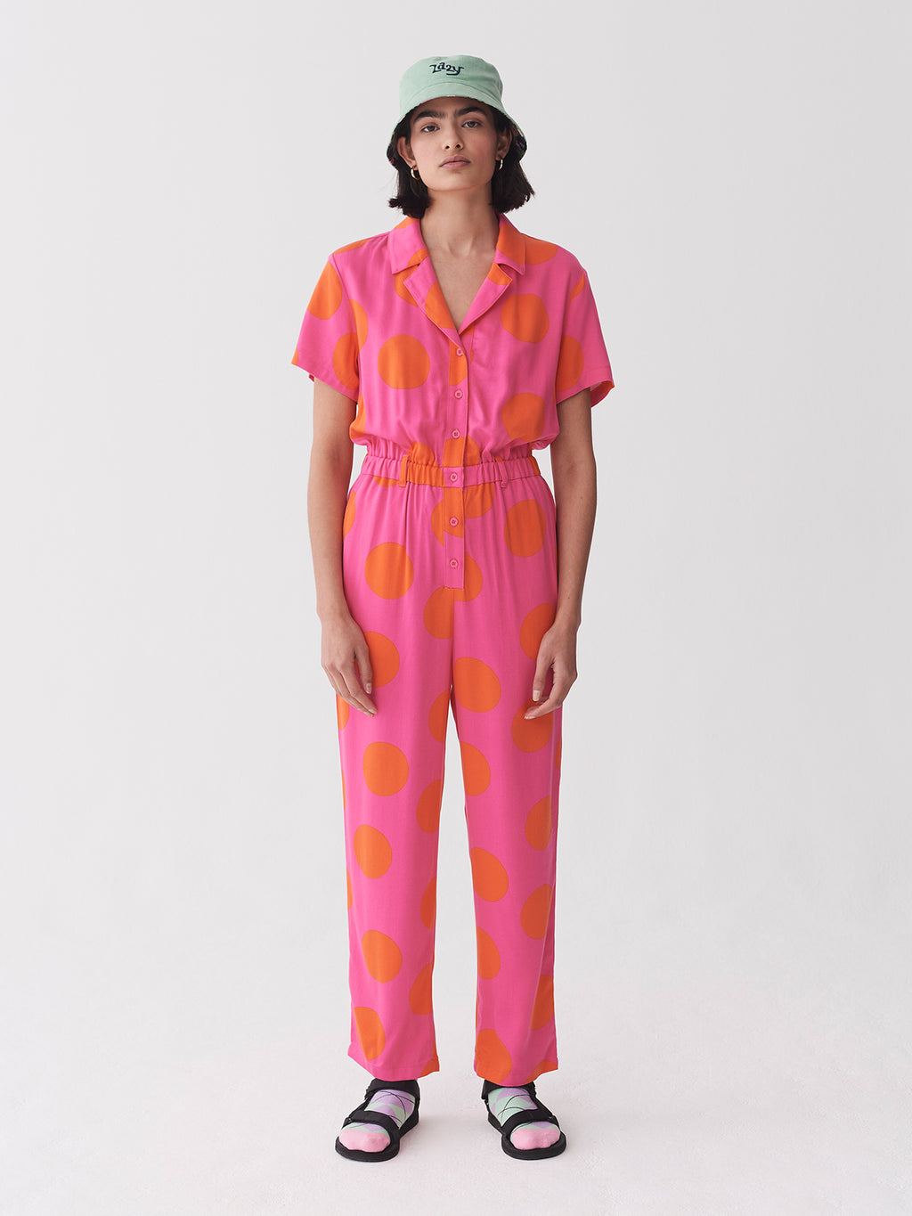 Lazy Oaf Daytrip Polka Jumpsuit