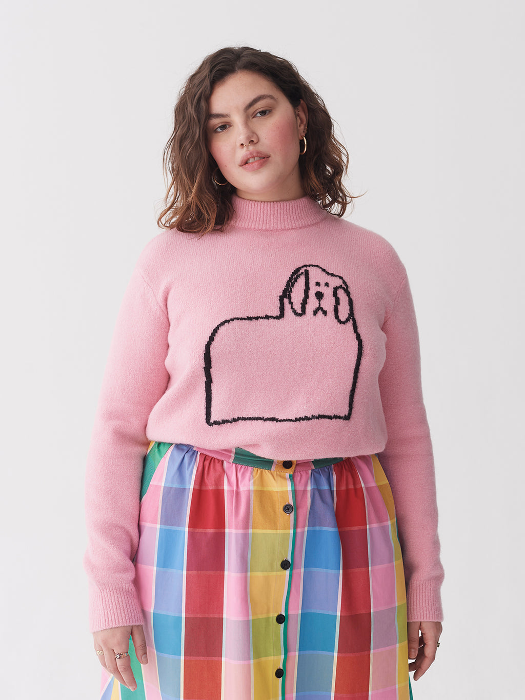 Lazy Oaf Doggy Outline Jumper