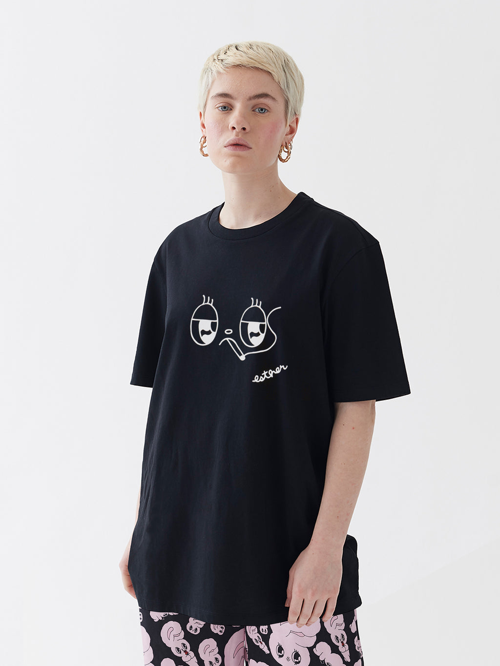 Esther Loves Oaf Esther T-Shirt - Black