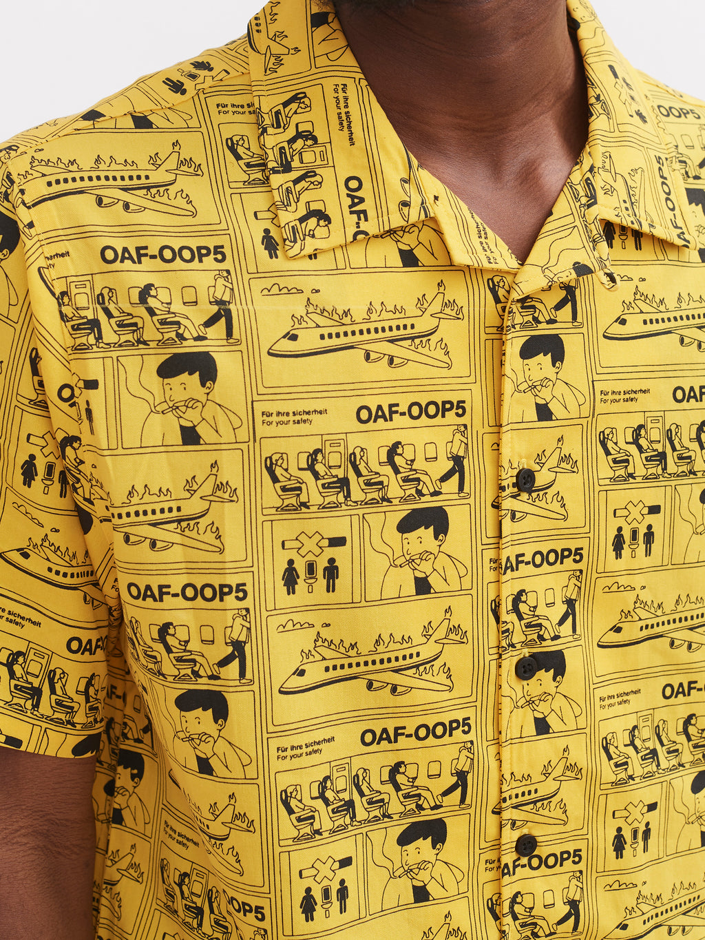 Lazy Oaf For Your Safety Only Bowling Shirt