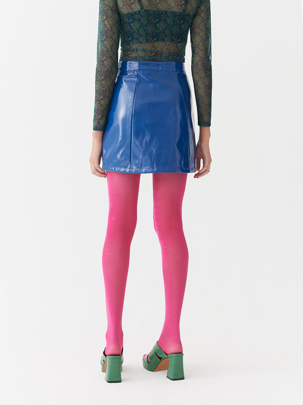 Lazy Oaf Feeling Blue Vinyl Skirt