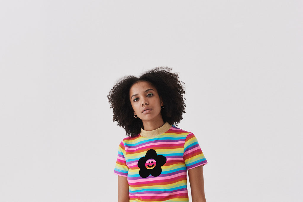 cc3978e663 Lazy Oaf Flower Power Rainbow T-Shirt
