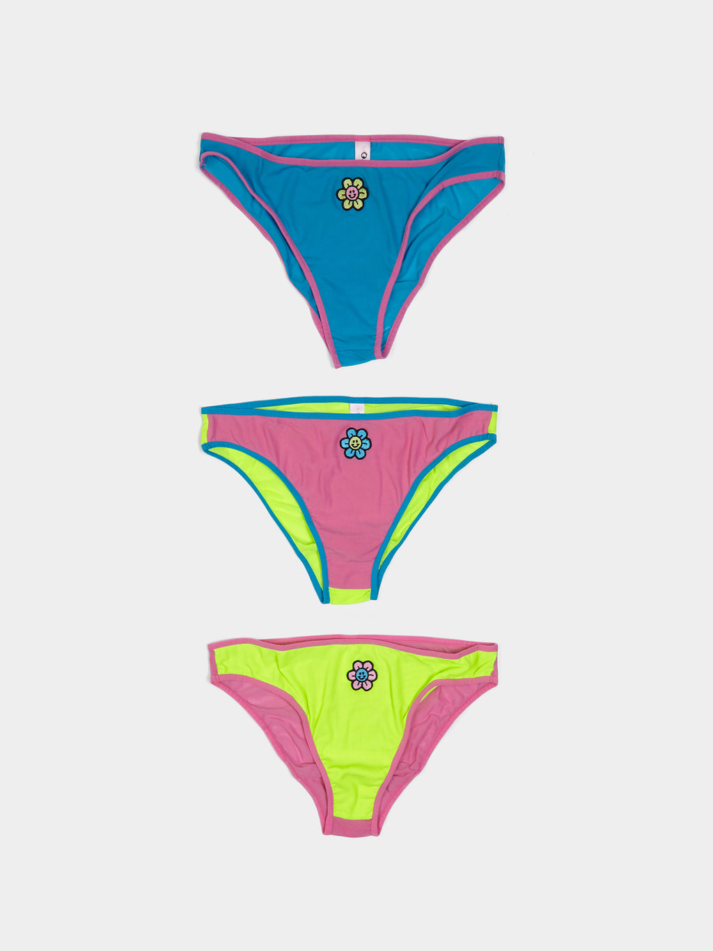 Lazy Oaf Fluro Flower Knicker Set