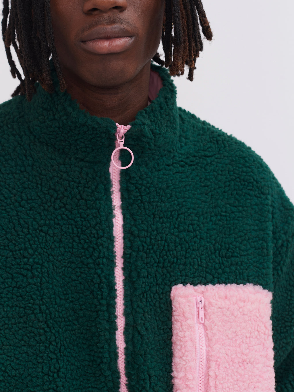 Lazy Oaf Forest Green Zip Up Fleece