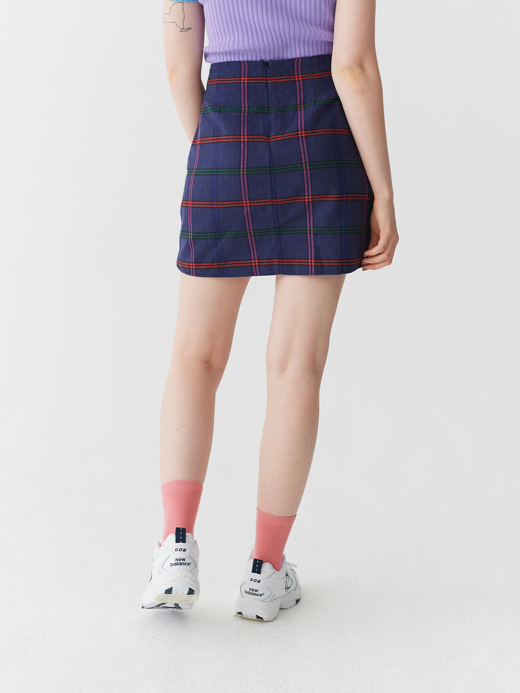 Lazy Oaf Getting Plaid Kilt Skirt
