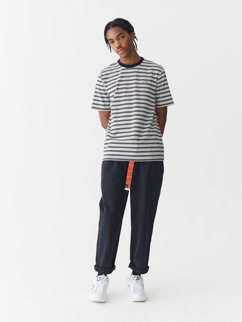 Lazy Oaf Greyscale Stripe T-Shirt