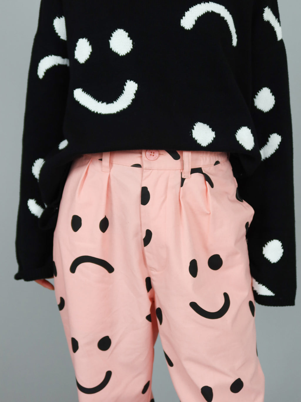 Lazy Oaf Pink Happy Sad Unisex Pants
